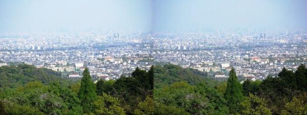神呪寺からの眺望①(交差法)
