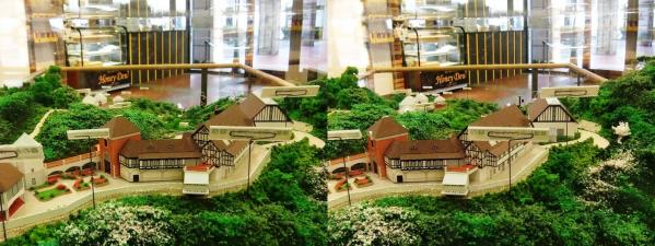 ハーブ園ジオラマ模型②(平行法)