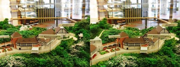 ハーブ園ジオラマ模型②(交差法)