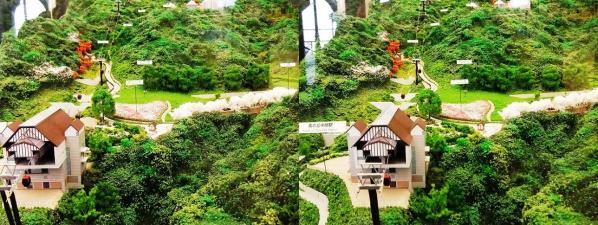 ハーブ園ジオラマ模型①(交差法)
