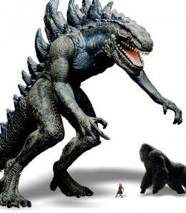 ゴジラとキングコングの大きさ比較