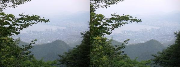 比叡山からの琵琶湖②(平行法)