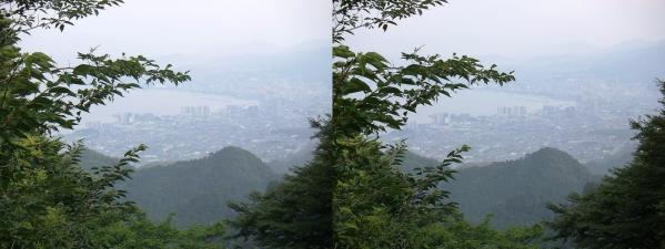 比叡山からの琵琶湖②(交差法)