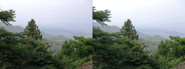 比叡山からの琵琶湖①(平行法)