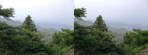 比叡山からの琵琶湖①(交差法)