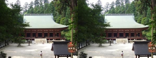 延暦寺 西塔 釈迦堂①(平行法)