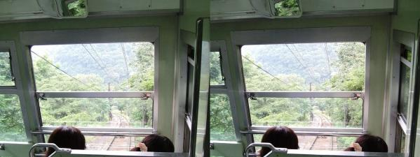叡山ケーブル①(交差法)
