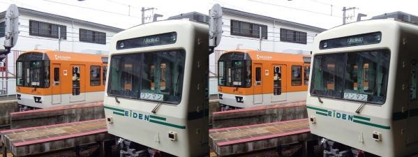 叡山電車(交差法)