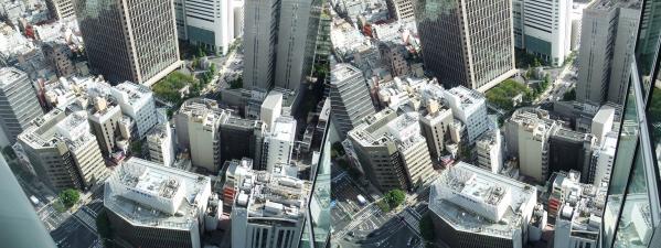 ブリーゼタワー33F展望スペース眺望⑥(平行法)