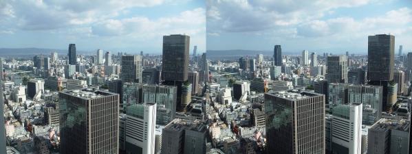 ブリーゼタワー33F展望スペース眺望④(平行法)