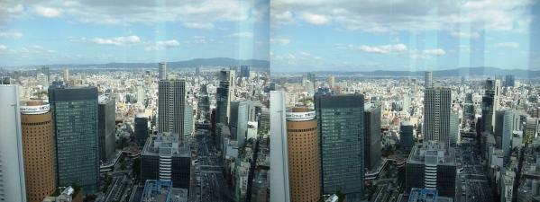 ブリーゼタワー33F展望スペース眺望②(交差法)