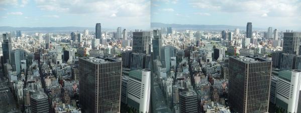 ブリーゼタワー33F展望スペース眺望①(交差法)