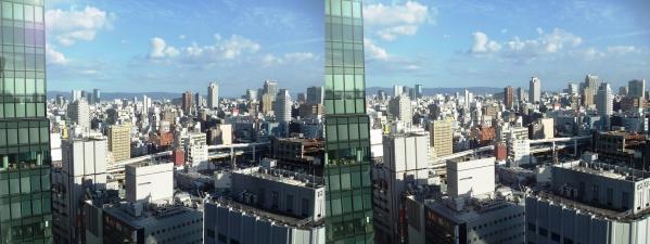 阪急オフィスタワー15Fスカイロビー眺望③(平行法)