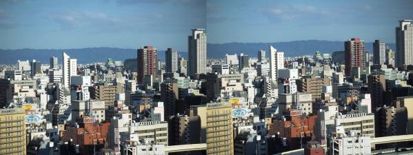 阪急オフィスタワー15Fスカイロビー眺望②(平行法)