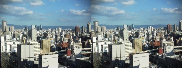 阪急オフィスタワー15Fスカイロビー眺望①(平行法)