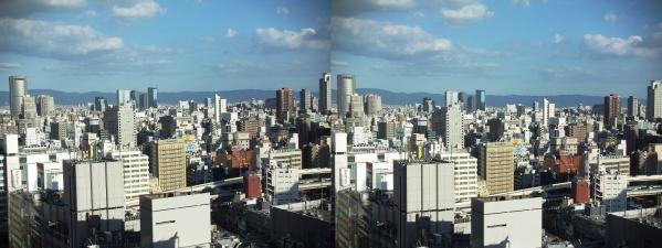 阪急オフィスタワー15Fスカイロビー眺望①(交差法)