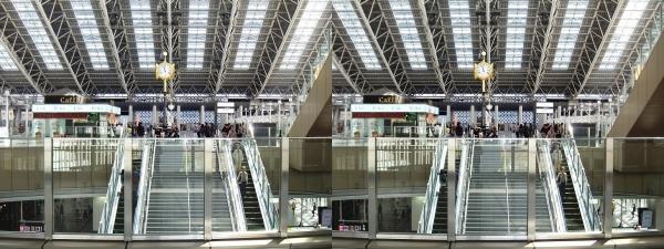 JR大阪駅⑤(交差法)