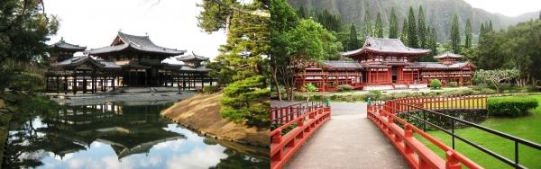 平等院鳳凰堂(左)と平等院テンプル(右)②