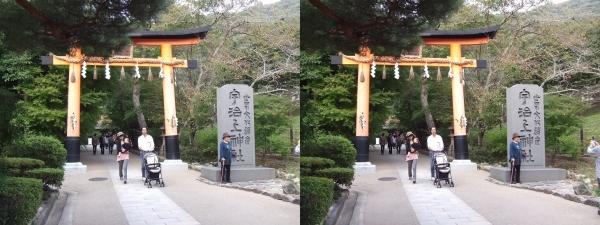 宇治上神社①(交差法)