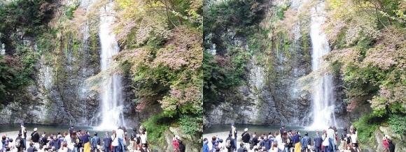 箕面大滝②(平行法)