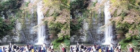 箕面大滝②(交差法)