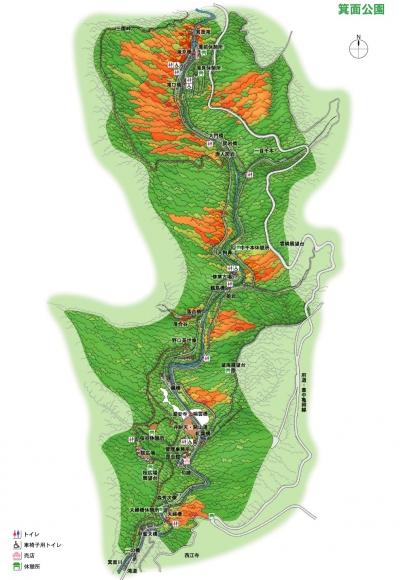 箕面国定公園MAP