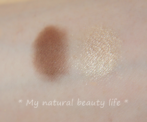 Suncoat, Duo Mineral Eye Shadow With Organic Bamboo Silk, Coffee & Cream
