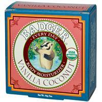 Badger Company, Every Day Body Moisturizer, Vanilla Coconut