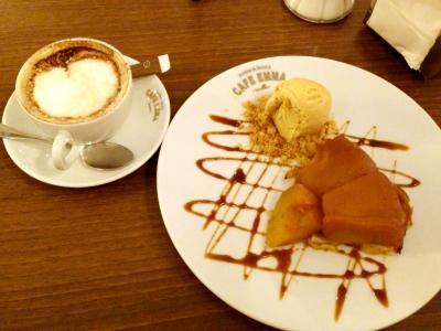 CAFE EMMA タルトタタン+カフェラテ