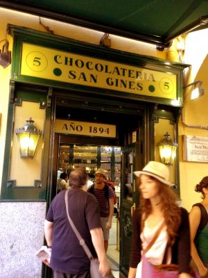 Chocolateria San Gines 外観