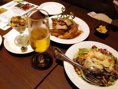 東京LOBBY 厚切り豚ロースの塩麹グリル+クラシックシーザーサラダ+etc