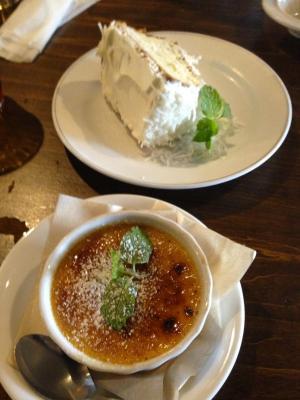 桜丘カフェ クレームブリュレ+季節のシフォンケーキ