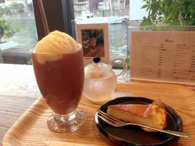 Cafe de 映水庵 自家製チーズケーキ+アイスココア