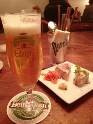 coto cafe 生ビール+パテ