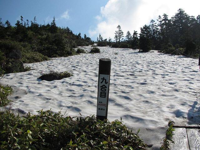 九合目の雪原