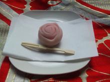$なごみや 「わかちあい日記 」-上生菓子「バラ」
