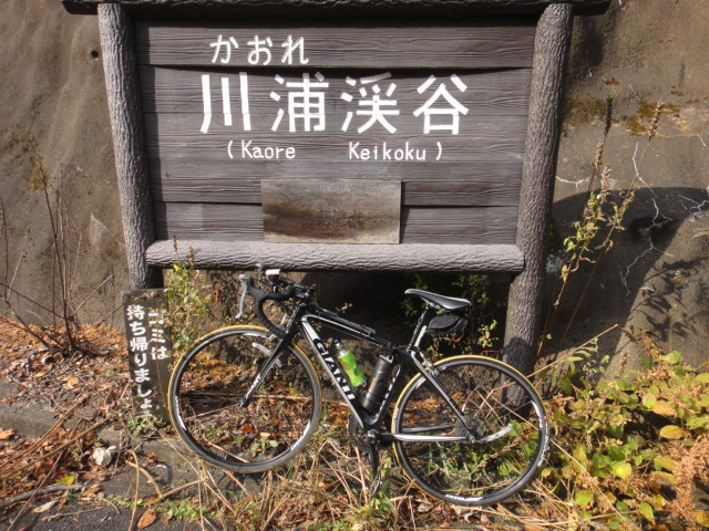 川浦渓谷 看板