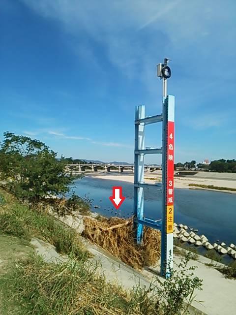河川敷台風後