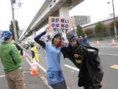 2013大阪マラソンバットマンと♪