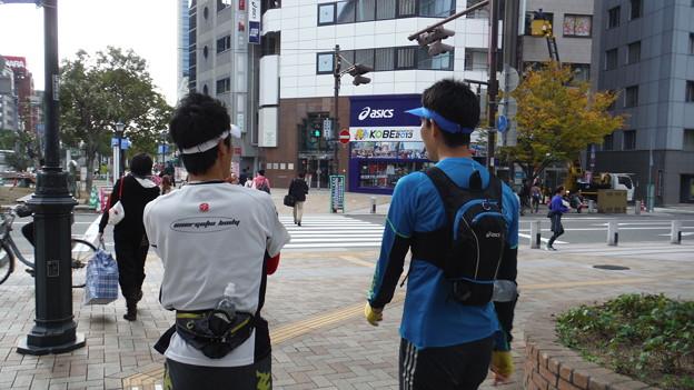 神戸試走スタート地点へ
