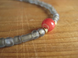 beads ネックレス gray (1)