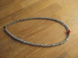 beads ネックレス gray (2)
