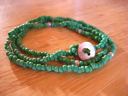 beads ネックレス green (4)