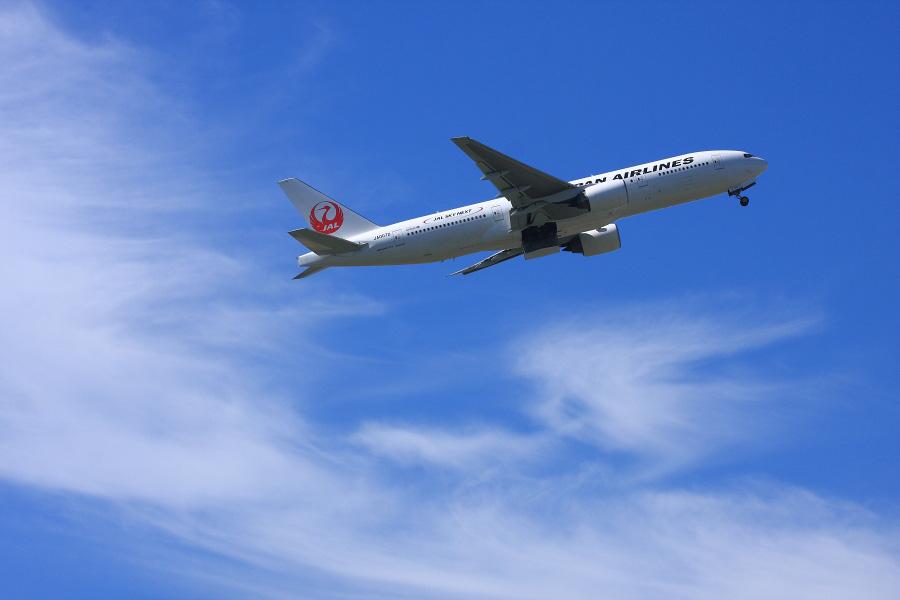 JAL B777-289 / JAL110 (JA007D)@下河原緑地展望デッキ