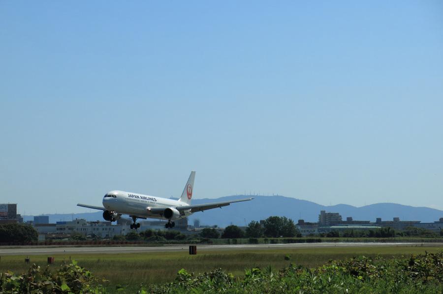 JAL B767-346 / JAL111 (JA8988)@スカイランドHARADA
