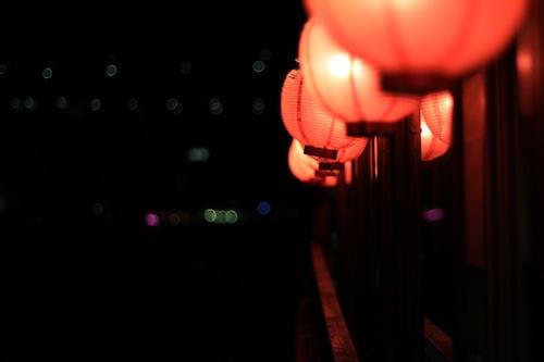 屋形船 夜風