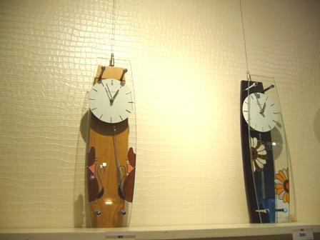 振子時計(かくれんぼ、花)