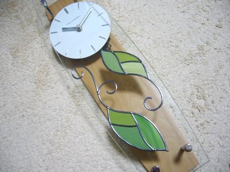 振子時計 グリーン