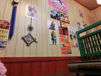 壁には韓国の方の写真が