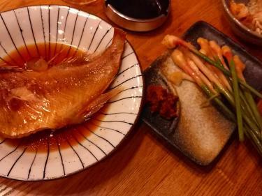 煮魚と谷中生姜